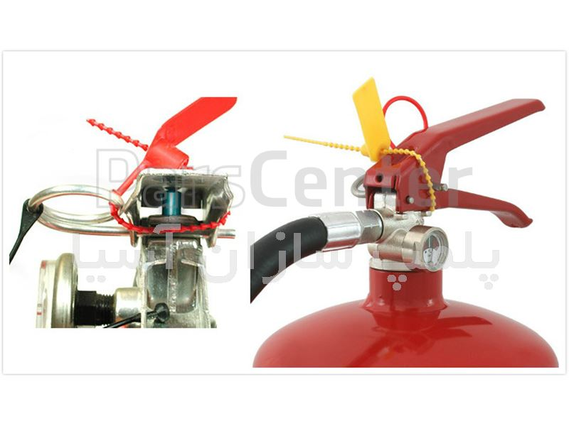 پلمپ پلاستیکی تسمه دندانه ای استاندارد کپسول های آتش نشانی