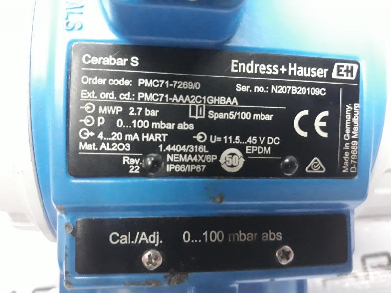 پرشر ترانسمیتر ENDRESS+HAUSERمدل PMC71