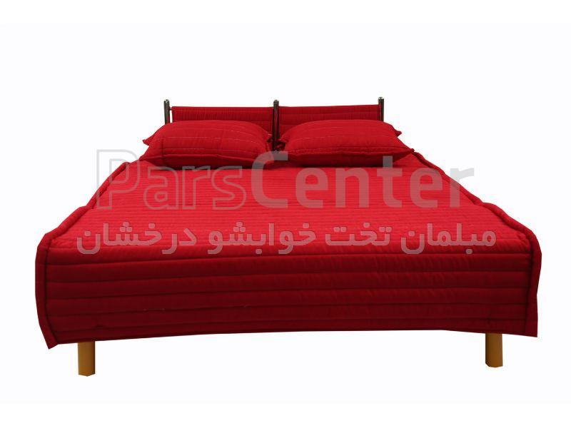 مبل تخت خوابشو سه نفر نشیمن دونفر خواب پانیز بدون دسته هتلی