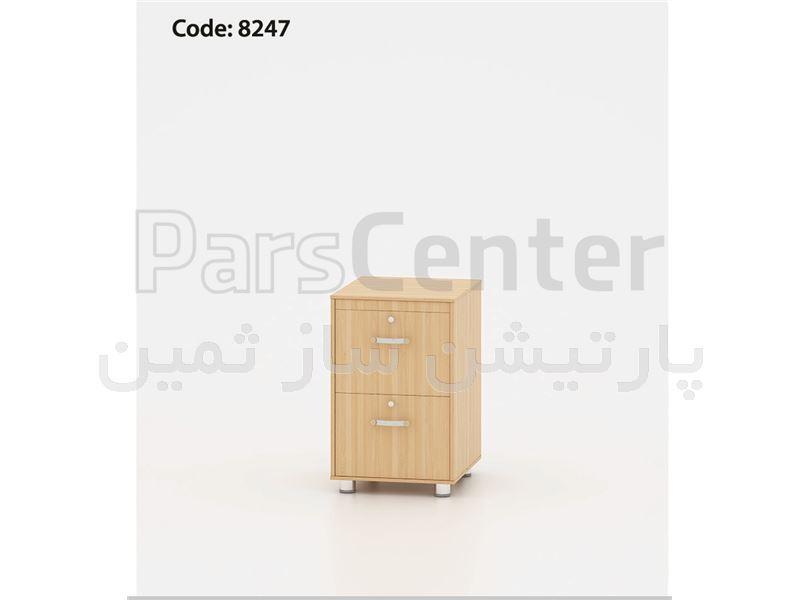 فایل 4 کشو پرونده خور پایه دار درب توکار ثمین مدل 8447
