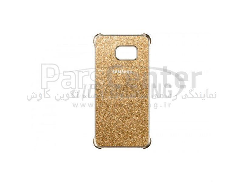 Samsung Galaxy S6 edge Plus Glitter Cover Gold گلیتر کاور گلکسی اس 6 اج پلاس سامسونگ