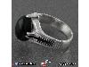 انگشتر عقیق سیاه (اونیکس) مردانه چهارچنگ _کد:۱۵۴۹۸