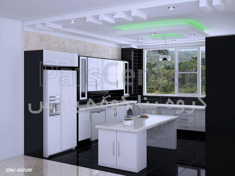 طراحی و اجرای سقف کاذب کناف - آشپزخانه