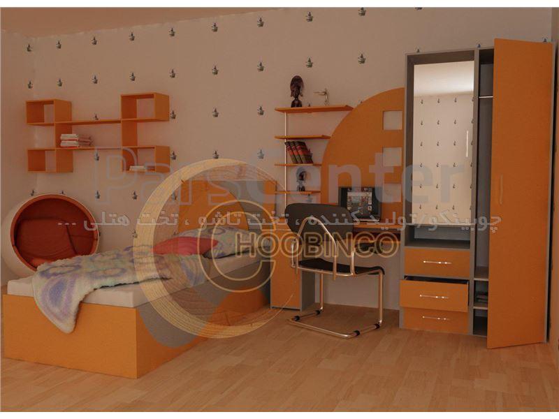تخت باکسی یکنفره کمجای چوبینکو - مدل B25