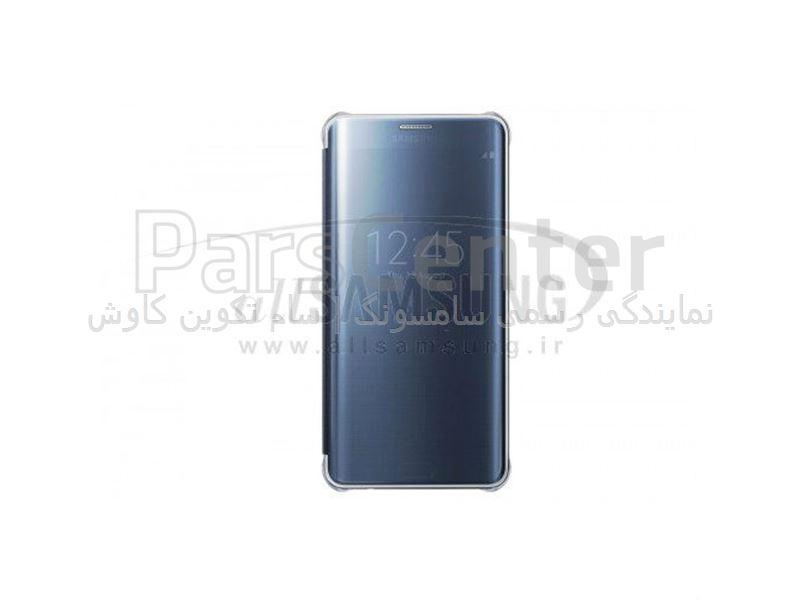 Samsung Galaxy S6 edge Plus Clear View Cover Black ویو کاور مشکی گلکسی اس 6 اج پلاس سامسونگ