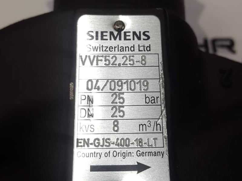 شیر دو طرفه زیمنس Siemens_2-port valves  VVF25.52-8