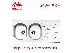 سینک ظرفشویی روکار کد 725 استیل البرز