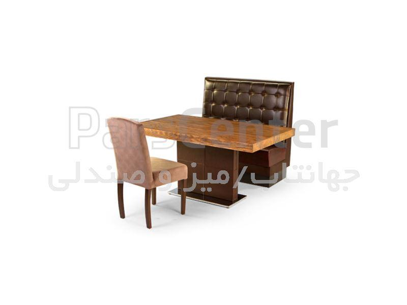 میز چوبی رستوران مدل 1037W (جهانتاب)
