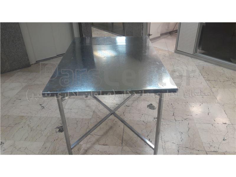 میز نهارخوری با پایه تاشو فلزی جهت مراسم و هیئت