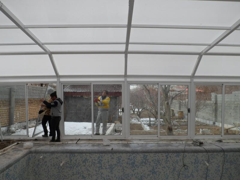 سقف استخر شناء - دماوند  - آینه ورزان