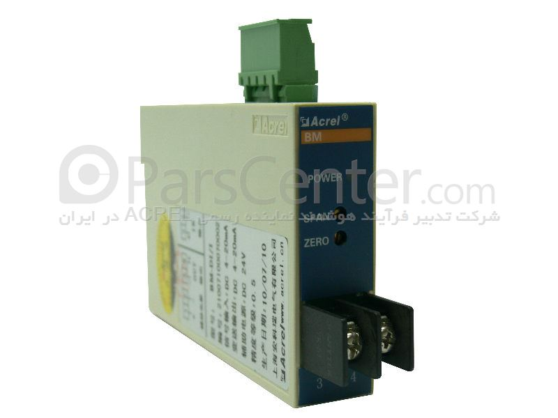 ترانسمیتر مبدل ایزوله ولتاژ با دو خروجی ولتاژ و جریان مدل BM-DV/IV