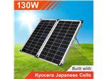 پنل (سلول) خورشیدی130وات قابل حمل (تاشو)  با کنترل شارژر
