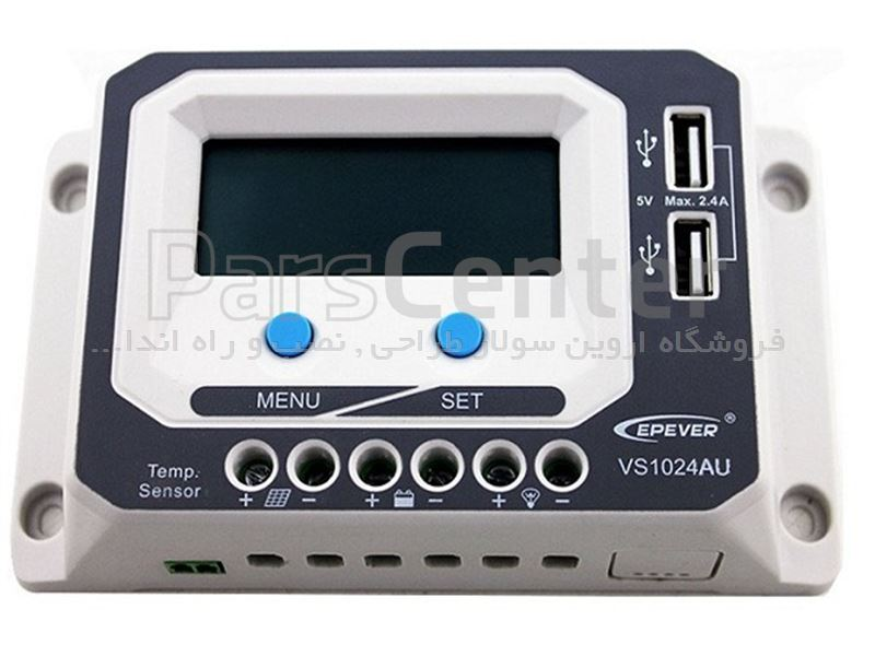 کنترلر خورشیدی 10 آمپر EPEVER - VS1024AU