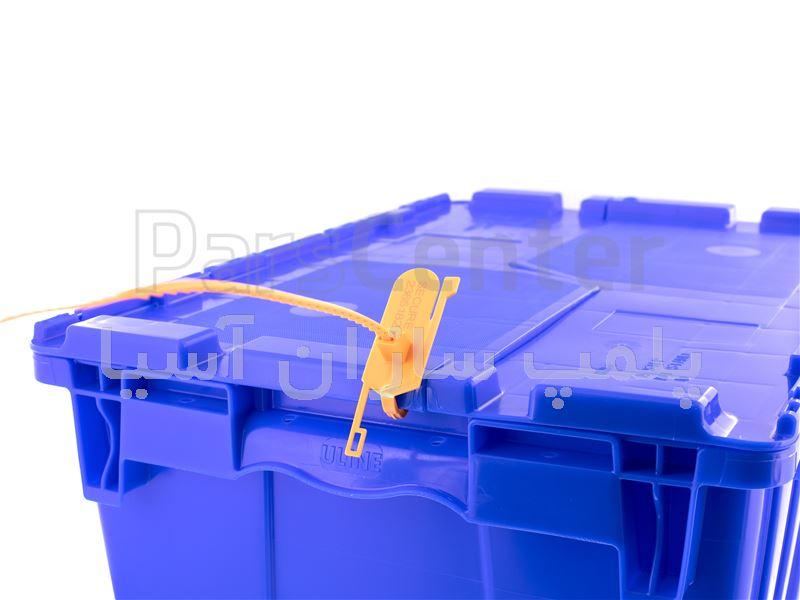 پلمپ تسمه ای پلاستیکی تسمه دندانه ای ( tear off ) استاندارد درب جعبه ها