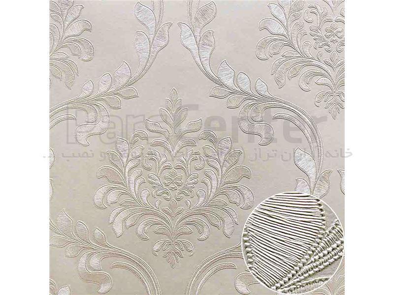 کاغذ دیواری الیافی - اکلیلی - برجسته - براق فرانسیس 8