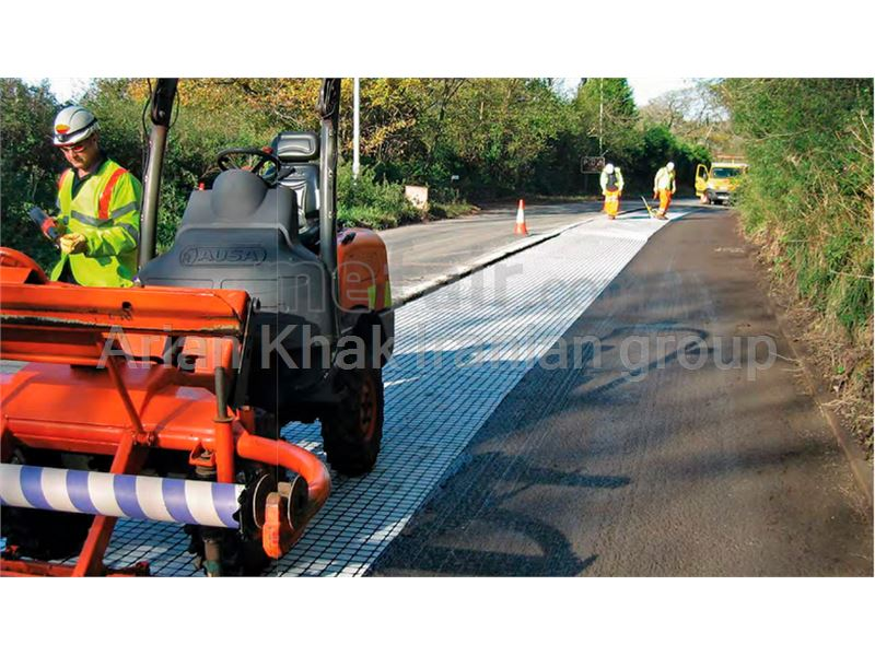 Asphalt reinforcement using Geotextile and Geogrid