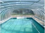 پوشش سقف استخر ثابت (ریلی) پوشش پاسیو