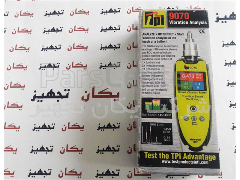 فروش و تامین دستگاه اندازه گیری لرزش و ارتعاش TPI 9070 Smart Vibration Meter