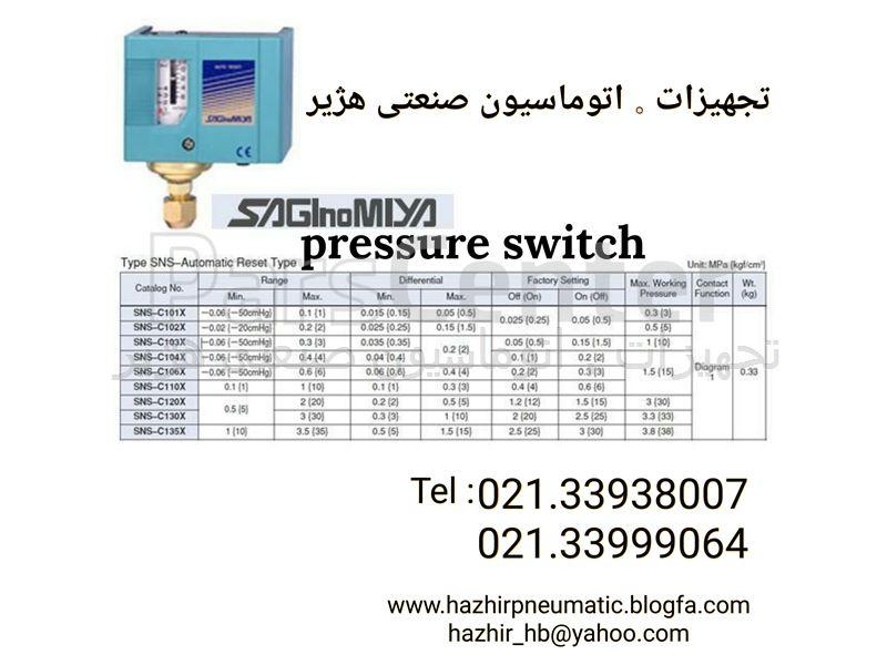 فروش پرشرسوئیچ ساگی نومیا SAGInoMIYA pressure switch