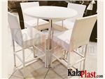 ست بار تراست 4 نفره با میز دایره 100 سانتی