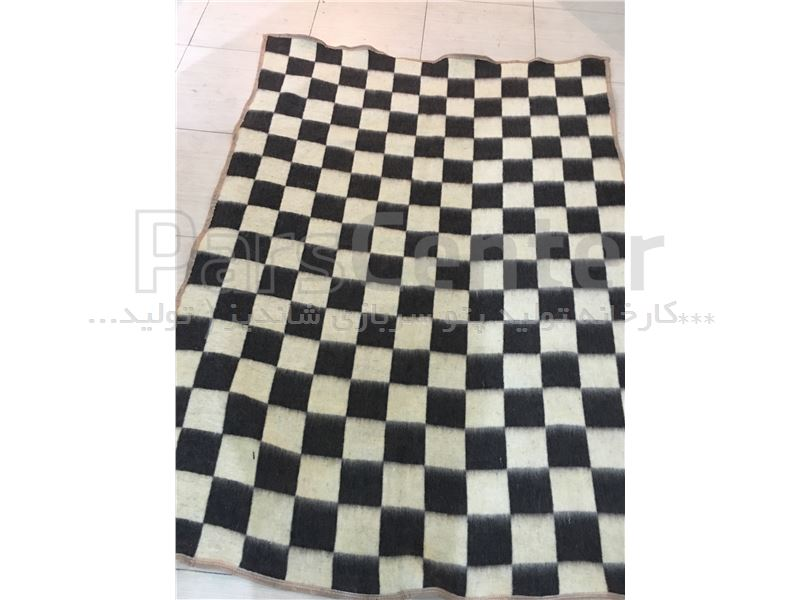 پتو نمدی شطرنجی شاندیز