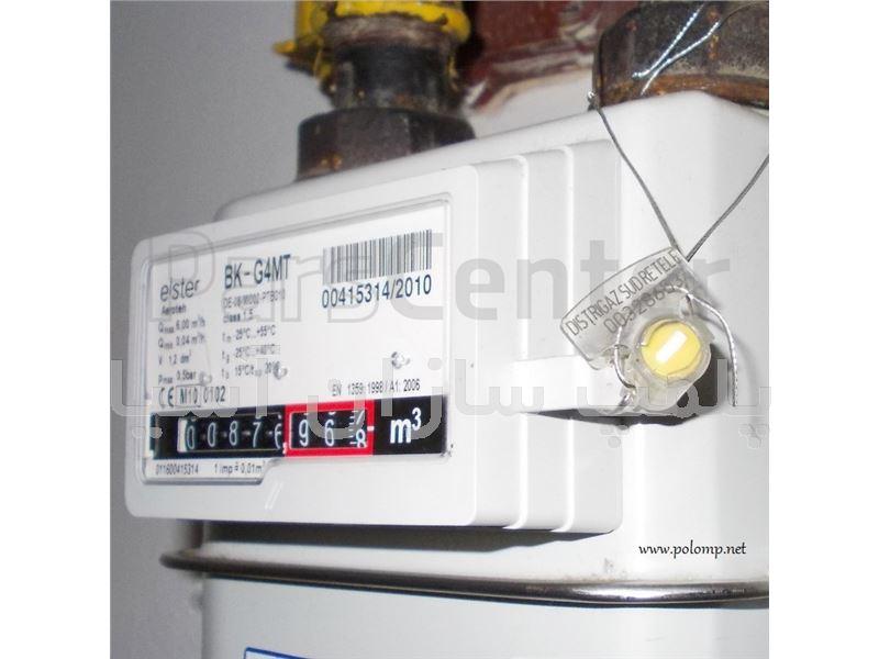 پلمپ سیمی استاندارد کنتور گاز