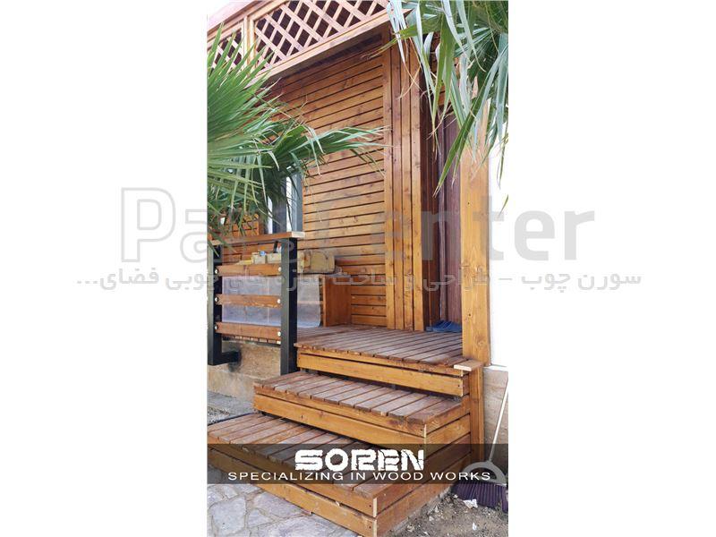 طراحی و ساخت نمای چوبی (واقع در قشم)