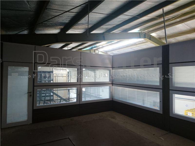 پارتیشن دوجداره در کارخانه و نصب پارتیشن در سوله برای اتاق کارپارتیشن الومینیوم