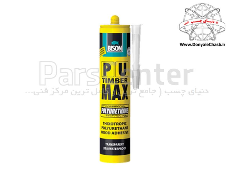 چسب چوب حرفه ای زود خشک BISON PU MAX هلند