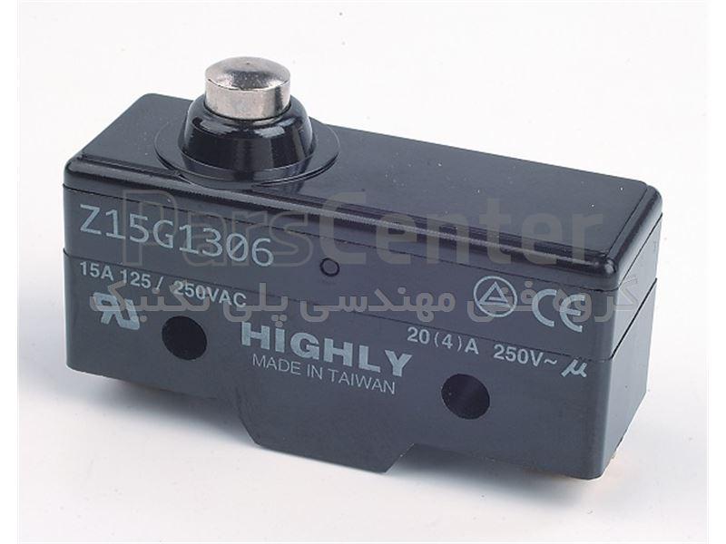 میکروسوییچ فشاری ساده گردگیردار Z15G 1306H هایلی HIGHLY Z15G1306H