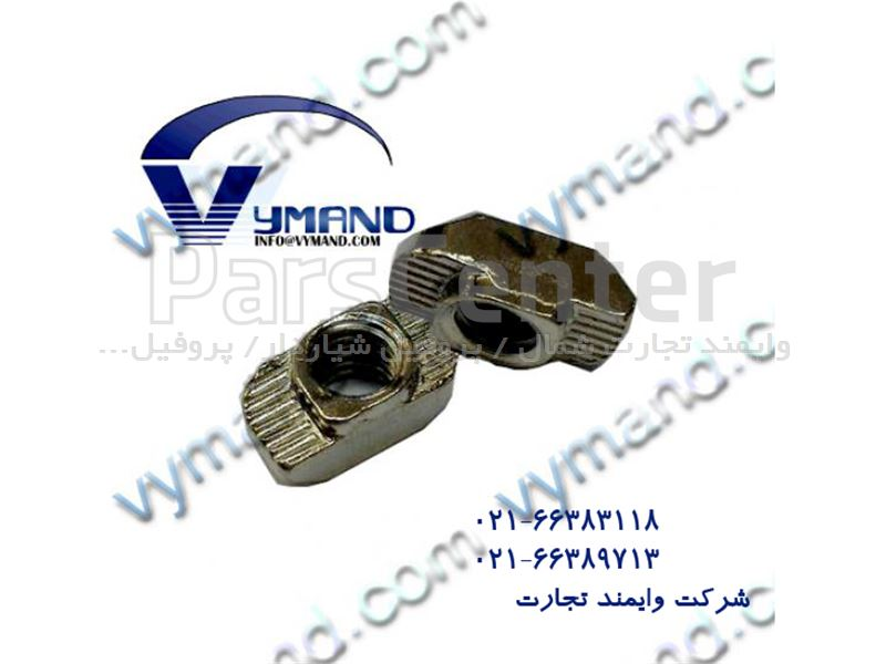 مهره M6 پروفیل آلومینیوم شیاردار 30 در 30