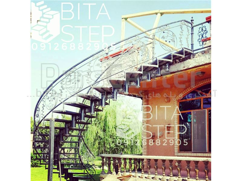 پله گرد تک شاسی فرفورژه Bitastep