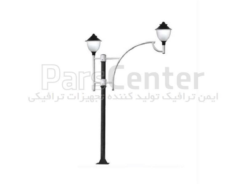 چراغ پارکی دو شاخه مدل ITL-207