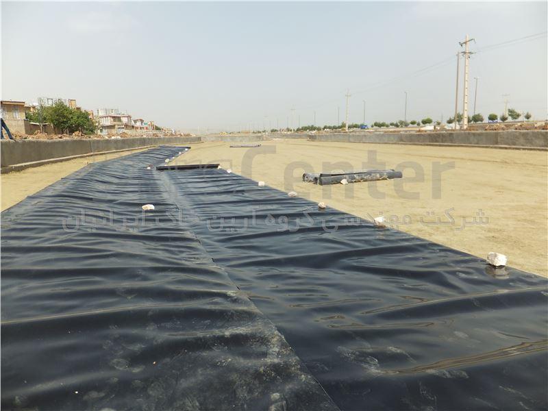 ساخت دریاچه تفریحی با ورق ژئوممبران، اسلام آباد غرب