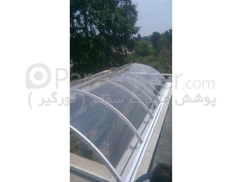 پوشش سقف استخر متحرک مدل قوسی کد PMS E06