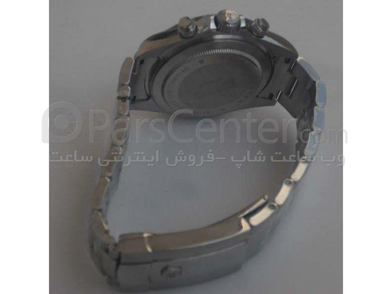 ساعت رولکس high copyمدل  DAYTONA- شیشه ضد خش --بند استیل- رنگ صفحه نقره ای-رنگ بند استیل- ایندکس عدد رومی