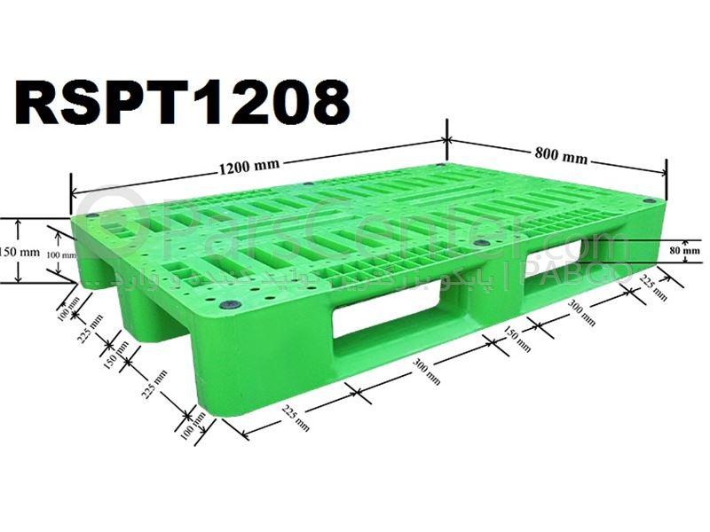 پالت پلاستیکی مشبک RSPT1208 /80×120×15 cm