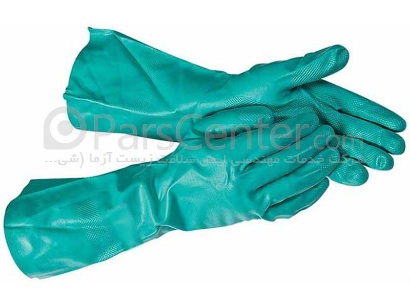 دستکش ایمنی نیتریلی ضد مواد شیمیایی  N-Dura Matrix