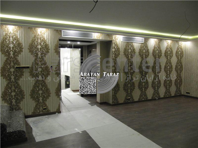 طراحی و اجرای کاغذ دیواری (پروژه ویلایی شهرک غرب 1)