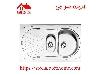 سینک ظرفشویی روکار کد 710 استیل البرز