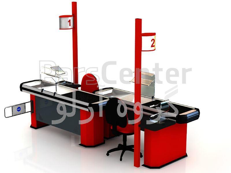 میز صندوق فروشگاهی-میز چک اوت 16