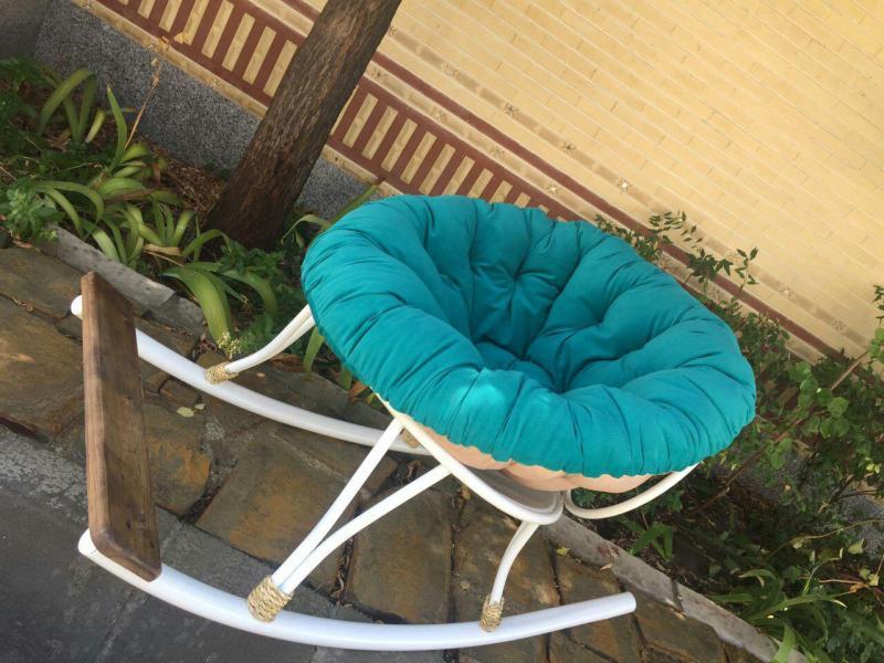 صندلی راک سفارشی با پارچه مبلی