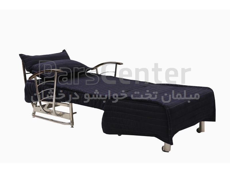 مبل تخت خوابشو یکنفره پانیز دسته چوبی (هتلی)