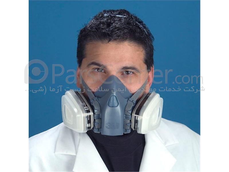 ماسک تنفسی ایمنی نیم صورت شیمیایی سیلیکونی 7502 3M با قابلیت استفاده مکرر