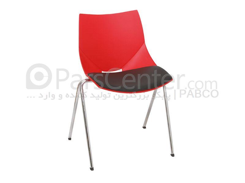 صندلی پلاستیکی شانل با پایه استیل