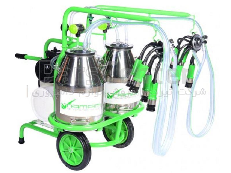 شیردوش سیار گاودوش ملاستی - دو واحد دو بیدون - سبز