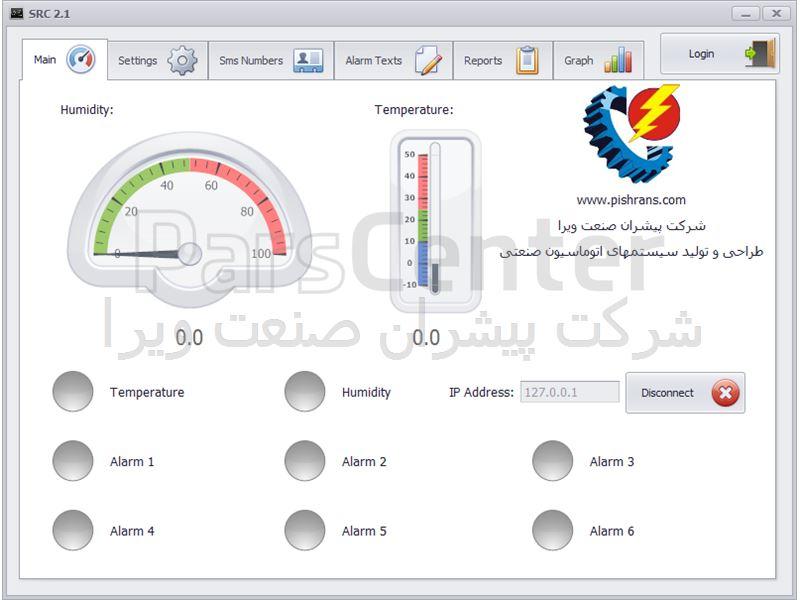 سیستم مانیتورینگ دمای اتاق سرور