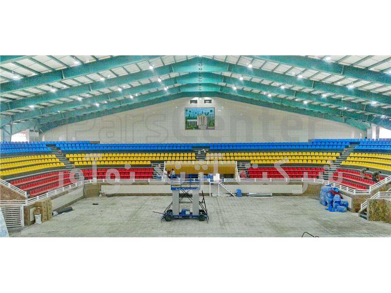 صندلی استادیومی آبی رنگ آژندنوآور