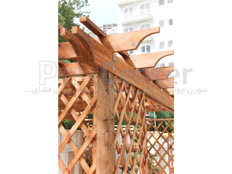 طراحی و ساخت فنس چوبی