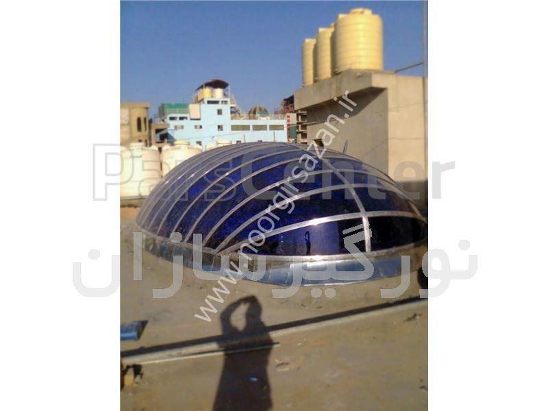 پوشش نورگیر سقفی با ورق پلی کربنات